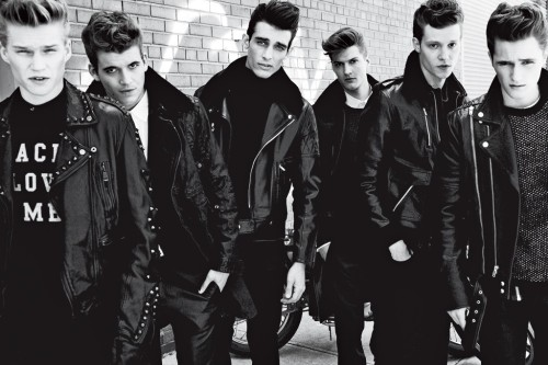 womensweardaily: Men's Trend: Rebel Rebel From Left: Ralph Lauren Black Label; Local Celebrity; Nautica; Versace; Hugo; Marc Jacobs; Robert Geller; Yves Saint Laurent; Paul Smith; Edun; Bally; A.P.C.; Brioni; Acne; Surface to Air; Yves Saint Laurent; BLK DNM; Alexander Wang; 2(x)ist; Topman Photo by David Roemer