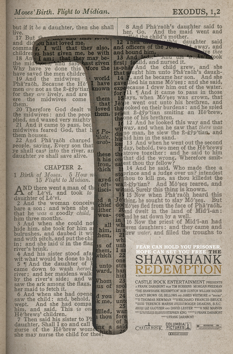 fuckyeahmovieposters:  The Shawshank Redemption by Gary E. Irwin  Love this!
