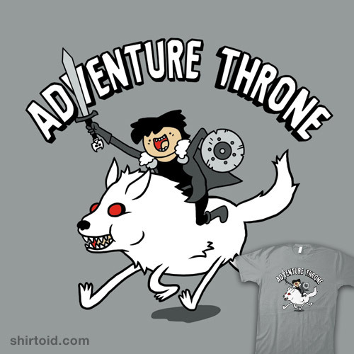 shirtoid:  Adventure Throne by Baz is $11 for a limited time at Another Fine Tee
