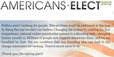 "When Americans Elect launched, a certain kind of person got very excited about it. A new, centrist political party that would let people vote on the Internet for a presidential candidate, who would then be on the ballot in all 50 states! David Brooks could finally have his President Bloomberg fantasy enacted! Well, they were super good at making money, but not so good at attracting, like, people - a problem that will not be surprising for anyone who's ever been involved with a political group. After holding the online primary, no candidate met the vote threshold set by the group's rules, and so they have, essentially, folded.  That failure is less interesting to me than who was almost their candidate. At the time they closed, the leading declared candidate was Buddy Roemer, and the leading undeclared (""draft"") candidate was Ron Paul. If you're familiar with comment boxes on political blogs, you will recognize those two candiates as ones who are Big on the Internet. But they're not so big in real life. Paul was running at a steady 12% among Republicans, while Roemer looked more like a statistical error. Those results mirror what happens when you ask people to vote online on what the most important political issue is today. Guess what? It's almost always legalizing pot. Some people have taken this to mean that the Internet has disruptively revealed this issue to be one criminally under-covered by the media and the political system. And sure, we could probably be talking about it more, though it's talked about plenty in states where it's an issue. But to say it's the most important issue of our time is just fundamentally disconnected from the reality of human existence. So is the idea that Ron Paul would be a better candidate for president, especially since he's losing by 8 points to Obama in a hypothetical head-to-head. The Internet tells us something, but it doesn't tell us something about everything. Like I said in that Twitter post, the Internet encourages the illusion that the existence of the web provides access to the universe of ideas and people, a comprehensive portal into the totality of information that exists. But as Twitter and Americans Elect show, you instead tend to get a portal into the kind of people who use the Internet a lot, and in particular ways. We know who those people are, and we know what those ways look like. And yet we keep proposing that the Internet is everything. The ultimate irony of the Americans Elect fiasco is that it promised universal access but got the level of turnout associated with a mid-year runoff. The far more arduous task of getting to a polling place is, due to everything about it that isn't just where it's located and how you get there, far more likely to produce robust results. The possibility of universal access is not the same as universal use. Building a new road won't necessarily make people use it. You have to give them a reason to get there - and to do that, you have to make sure you don't end up looking like a niche concern."