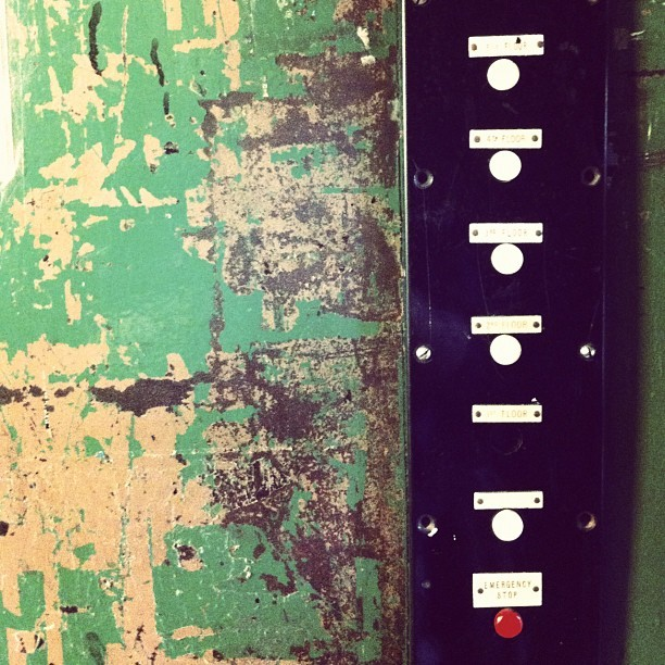 Retro lift controls in Manchester. (Taken with Instagram)