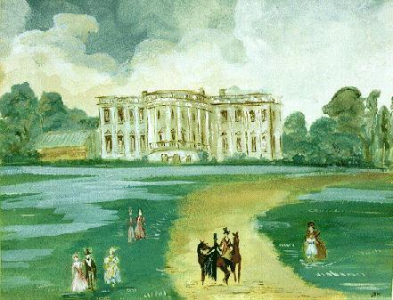 ourpresidents:  Jacqueline Kennedy, Painter jfklibrary:   A watercolor of the White House Jacqueline Kennedy painted as a gift for President Kennedy. JFK hung this painting in the Oval Office of the White House, but we have it on display here at the JFK Library.