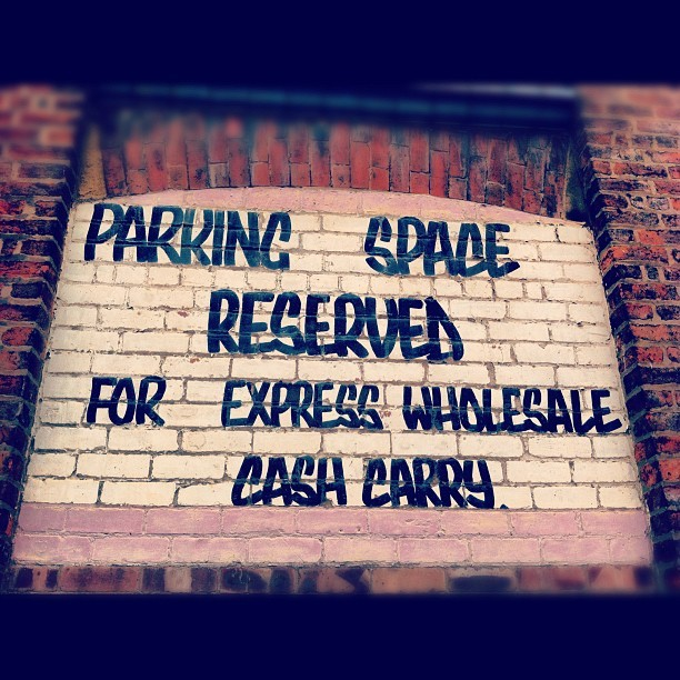 Reserved car parking space. (Taken with Instagram)