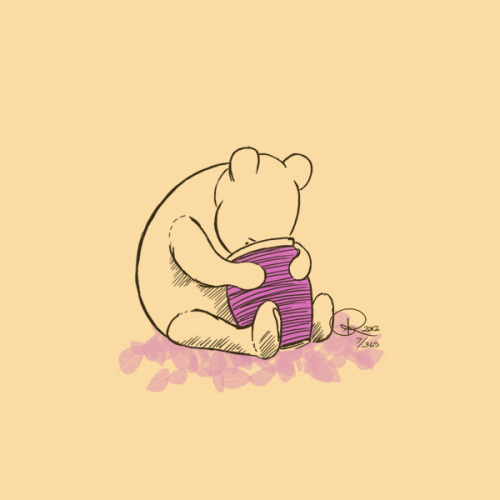 I LOVE the original classic Winnie The Pooh drawings, so I decided to draw digital, cleaner, more simplified versions of the drawings.   Disclaimer: Character and original drawing belong to Winnie The Pooh, owned by Disney, and not me. [This post is an old testing post and is not part of riproject365 for 2013]