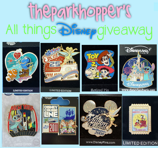 theparkhopper:  All-Things Disney Giveaway -  A few days ago I was looking through my chest of Disney items, which led me to my collection of Disney Pins. I recounted them up and found a few duplicates, along with some never-before used/taken off pins that either people gave me (that I already have), or I just happened to have another same one. I'm currently at a total of 692 pins and decided to start my first summer giveaway on this new blog to give out some of my duplicates. I decided to add some more to this giveaway and went out and bought some of my favorite Disney DVD's, and put in a $10 Disney Gift Card in with it! This Giveaway includes: A 2006 Limited Edition Finding Nemo Disney Cruise Line Pin A 2007 Limited Edition 25th-Anniversary Epcot Pin (with Tinkerbell) A 1999 Retired Toy Story 2 Pin A Disneyland Paris Pin with Stitch by Sleeping Beauty's Castle & Fireworks A Limited Edition New York with Stitch Pin A 2011 Disney Cruise Line Pin A 2008 Walt Disney World Year of A Million Dreams Pin A Limited Edition Mickey Mouse Pin (with Minnie) 2-Disc Platinum Edition of Snow White & the Seven Dwarfs 2-Disc Platinum Edition of Beauty and the Beast 2-Disc Platinum Edition of Cinderella 2-Disc Platinum Edition of The Lion King 2-Disc Platinum Edition of The Little Mermaid 2-Disc Platinum Edition of Aladdin A $10 Disney Store Gift Card! The images above are images I took of the items, but cropped to fit (except for the Disney gift card, those are images I pulled from the internet - I still need to buy it!) Qualifications: Must be following me — this giveaway is for my followers (both my previous and new ones) as a Thank You and appreciation for the support You can reblog up to 3 times; 1 Reblog = 1 Entry Sorry, likes don't count! Winner will be chosen at random on July 23rd, 2012 at 12 AM PST. I'll announce the winner on both here and on my old/new Twitter page. The winner will get a message in their inbox and will have 24 hours to respond before we give it to the next person chosen. This giveaway is WORLDWIDE; I'll ship the prizes to the winner the second I get a confirmation from them! HERE'S A CATCH: This giveaway will only take place if this post reaches 2500+ notes. If this post reaches 5000 notes, the winner will receive a $25 gift card of their choice: Starbucks, Jamba Juice, Disney, or Barnes and Noble. Yay! (If you're questioning why I'm basing some things off of how many notes it gets, it's because I want this giveaway to have a large amount of entries so that it makes winning the prize a lot more exciting. A few months ago on another blog of mine, I made a giveaway that only got about 370 notes, which honestly wasn't much fun.) UPDATE: Giveaway extended 'till July 23rd, 12 AM PST.