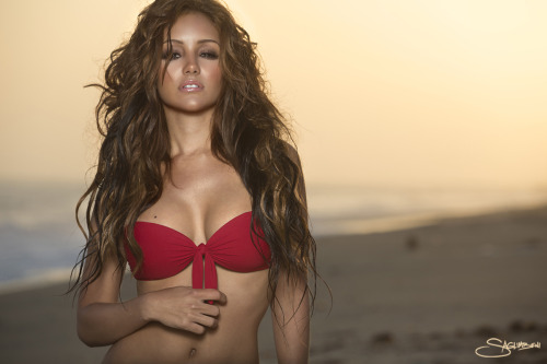 realmelanieiglesias:  NEW! Never before seen photo from my beach poster shoot, photographed by Nick Saglimbeni. My online store will be up soon!