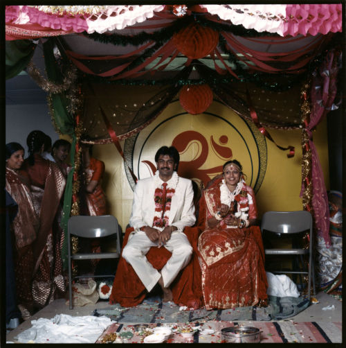 An Indian bride and groom, c. 1987. Photograph by James Newberry. Want a copy of this photo?  > Visit our Rights and Reproductions Department and give them this number: ICHi-39733 Connect with the Museum