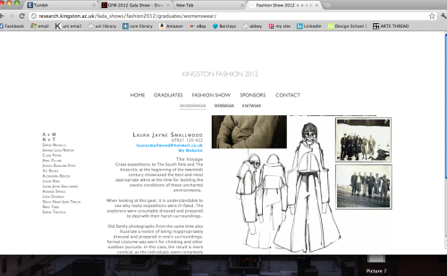 Kingston University Fashion 2012 Page http://research.kingston.ac.uk/fada_shows/fashion2012/graduates/womenswear/