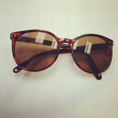 Liz Claiborne tortoise shell sunglasses $.98 at the Lighthouse Thrift Shop.