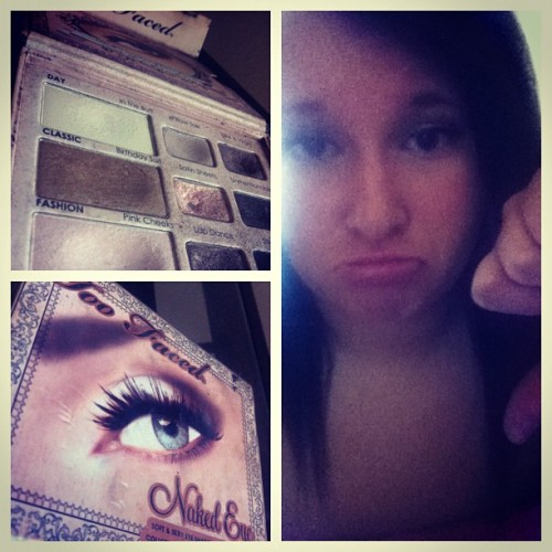 Hit pan on my favorite eye shadow pallet 😔 #makeup #nomoney #terrible #toofaced #boo  (Taken with Instagram)