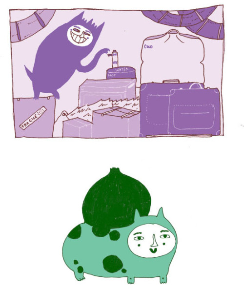 The ghost in my attic, messing around with my hot water. My Bulbasaur is not amused.