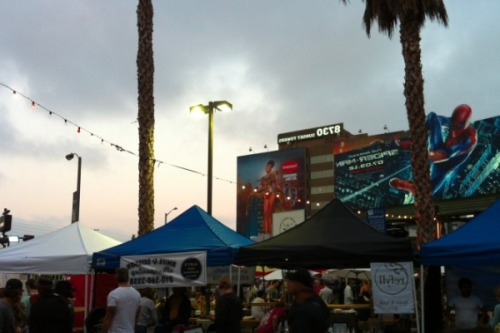 "socalfood:  Opening Night at the Sunset Strip Farmer's Market When I wrote this mini-tirade a few weeks ago about the then-upcoming Sunset Strip Farmer's Market, I knew I wasn't entirely being fair. I mean, I was criticizing an event that hadn't even taken place yet, simply based on its press release. And, now I'll go ahead and admit: most of that vitriol was based on my own inherent hatred of the Sunset Strip area of West Hollywood and everything — aging wrinkly rockers, gelled hair, breasts three decades younger than their owners, everything that's ever been in ""Entourage"" — it represents. So being the reasonable person I am, when the idea was presented that maybe I should actually head on over to the opening night of the market and check it out in person, it only seemed fair. At the very least, it would give the whole thing a chance to bury itself even deeper and confirm my own preconceived notions about the people that would put on an event like this. (""Veggie Valets?"" Really?) And was West Hollywood mayor Jeffrey Prang's promise it wasn't going to be ""your typical farmer's market"" just a way to disguise the fact that it was going to be one big party. Turns out, he wasn't wrong. The whole thing isn't what you'd come to expect from a farmer's market. It was so much better. Read more here!"