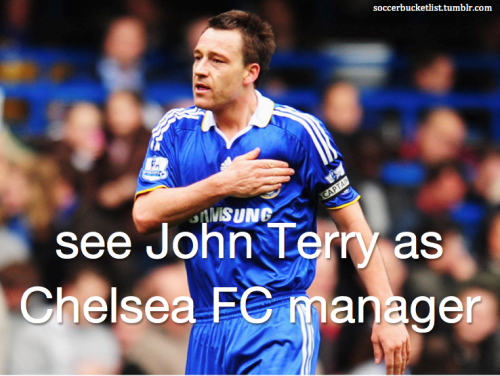 see John Terry as Chelsea FC manager