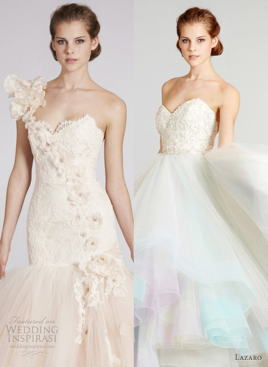 weddinginspirasi:  Our top 2 picks from Lazaro Fall 2012 Wedding Dresses.