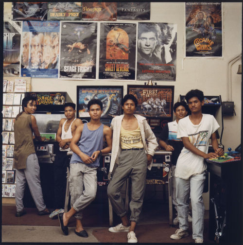 chicagohistorymuseum:  Teenage boys in an arcade, c. 1987. Photograph by James Newberry. Want a copy of this photo?  > Visit our Rights and Reproductions Department and give them this number: ICHi-61217  Ooh, they got Double Dragon!