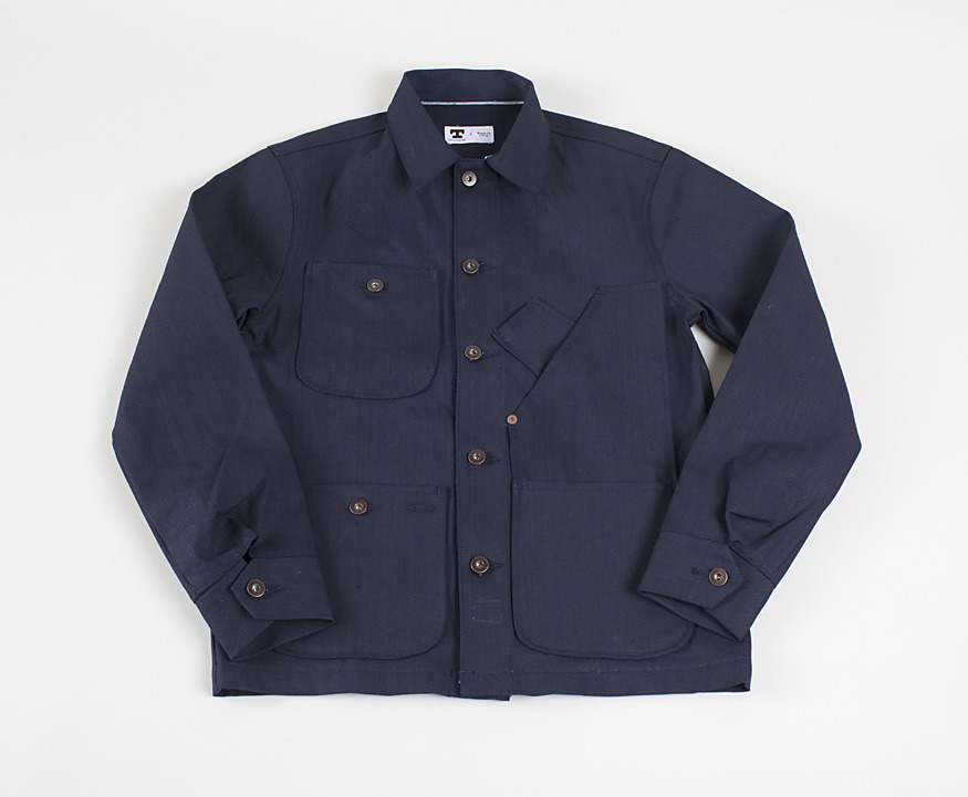 Tellason - Coverall Jacket in 11 Oz Cone MIlls Indigo Canvas