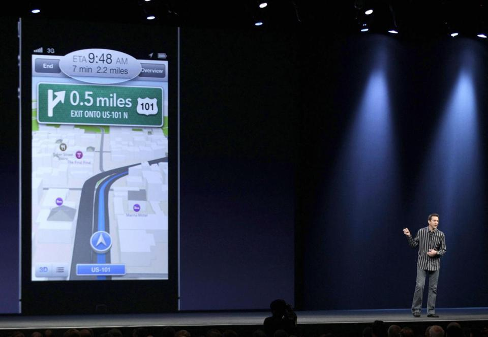 Apple enters battle with Google on mobile maps Starting this fall, iPhones will no longer carry Google maps but instead will have Apple's own map service built in. (MARCIO JOSE SANCHEZ/ASSOCIATED PRESS)