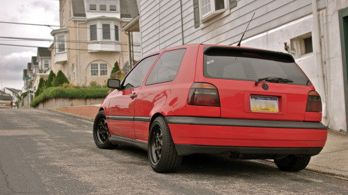 theecatzpajamaz:  My mk3 gti vr6 on Porsche phone dials. 16x7 fronts and 16x8 rears.