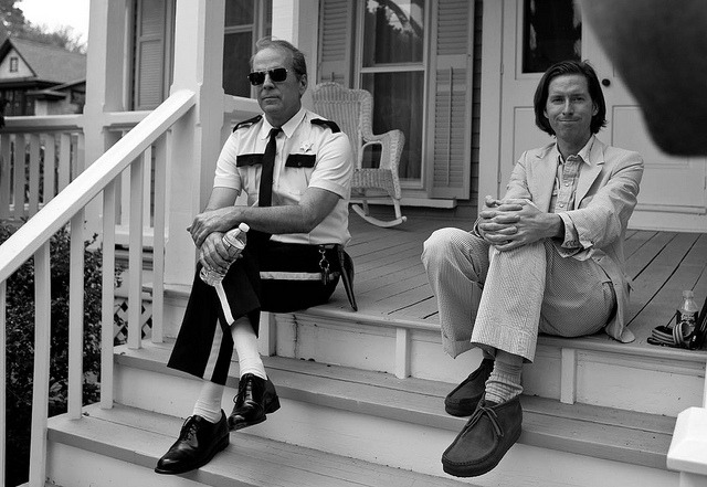 Almost.. by ANTWRANGLER on Flickr. Bruce Willis and Wes Anderson chillin'.