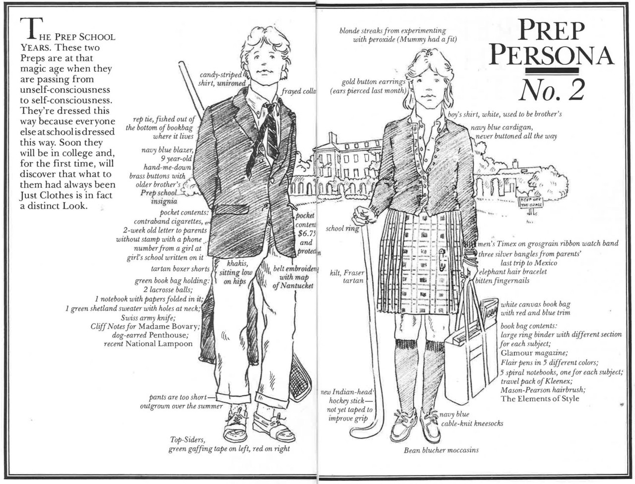 An excerpt from The Official Preppy Handbook, by Lisa Birnbach. Illustrations by Oliver Williams.