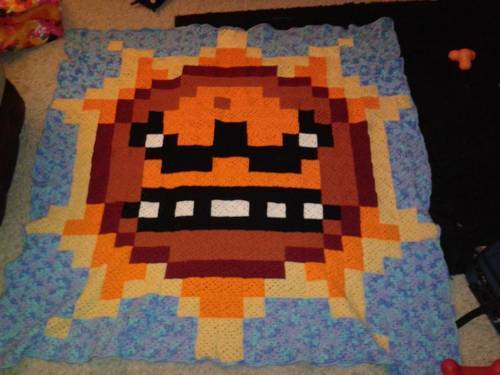 (via Super Mario Brothers 3 Angry Sun Blanket! - CROCHET)
