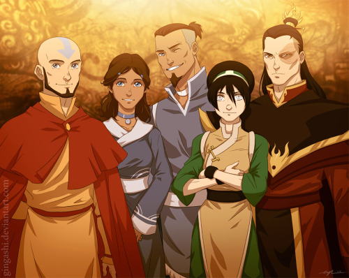 lupinswilly:  occiferbecky:  airbendertenzin:  happyharborgirl:  Avatar after by ~Gingashi      \