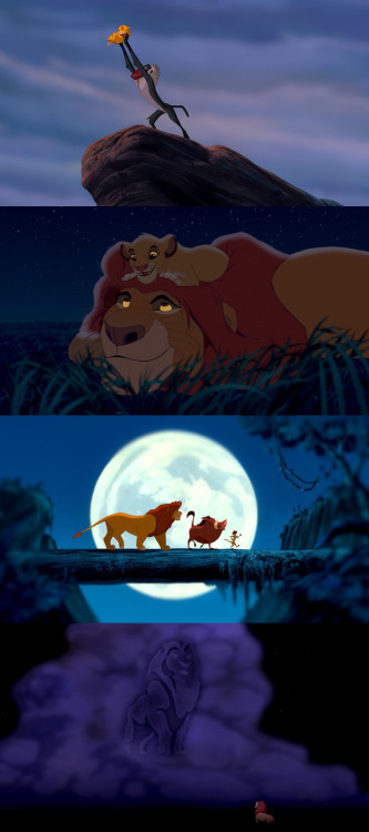 moviesinframes:  The Lion King, 1994 (dir. Rob Minkoff, Roger Allers)  What is it that the tumblr girls say? All the feels? I can't? Yeah. That.