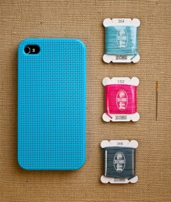 iphone cross stitch case by leese design