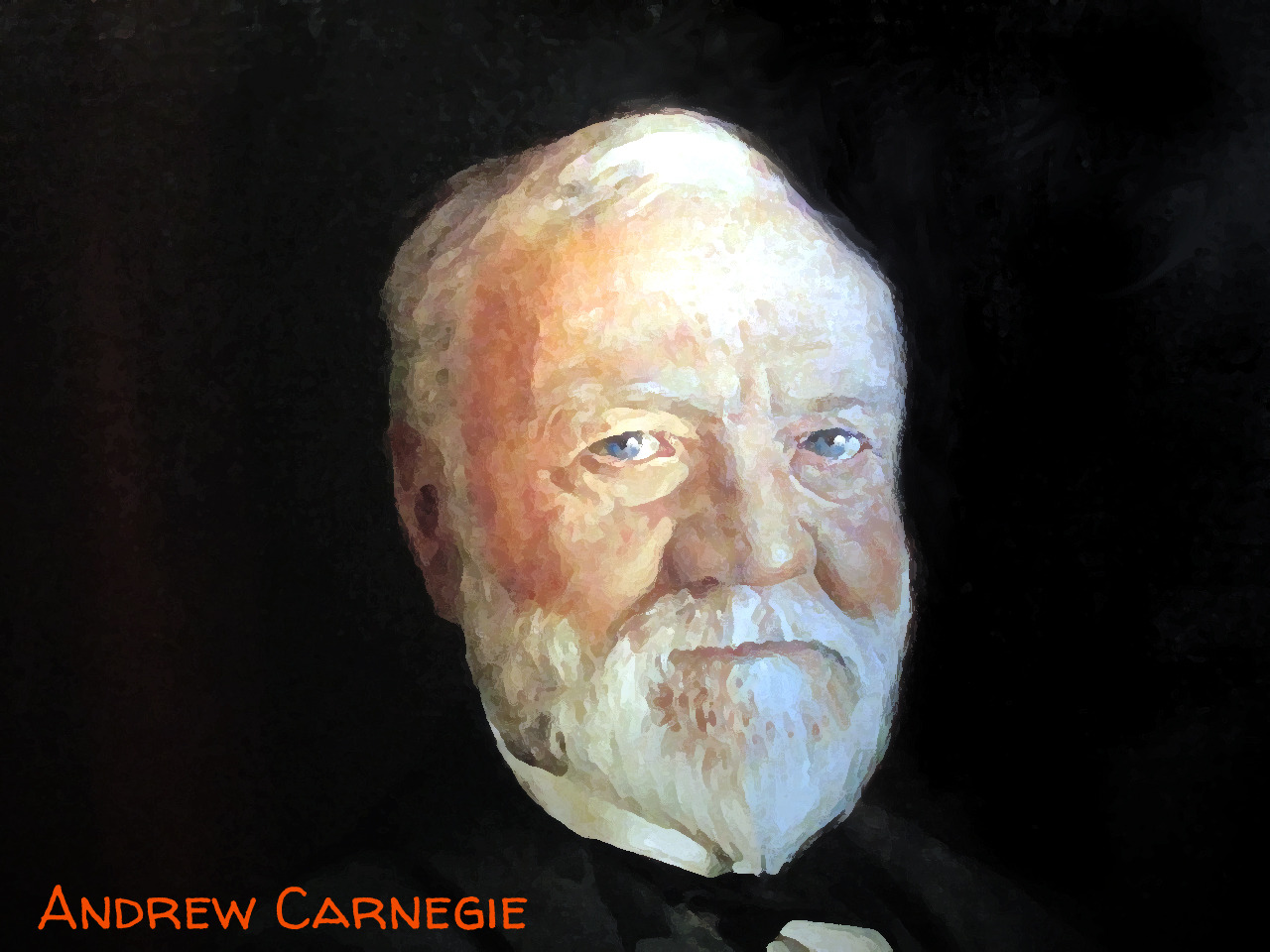 I owe a lot to Scottish-American businessman and philanthropist, Andrew Carnegie who donated funds to build 2,509 Carnegie libraries, (125 of which were built in Canada, in the early 20th century.  Carnegie's 1902 $10,000 donation made it possible to open the doors of the Waterloo Public Library on 44 Albert Street, Waterloo on November 1, 1905 Thanks Mr. Carnegie! Image Credit:  The United States National Gallery holds the original of this unattributed portrait of Andrew Carnegie that I've remixed to create this image (which is also, of course, in the public domain).