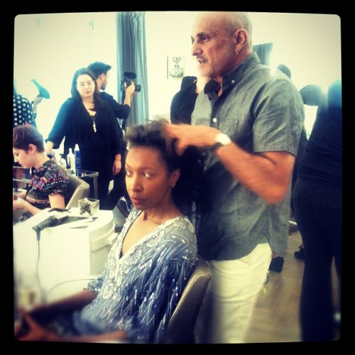 @yvesdurif creating gorgeous hair @thecarlylehotel #magnumscene  (Taken with Instagram)