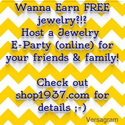 Wanna earn free jewelry?!? #shop1937 #jewelry  (Taken with Instagram at www.shop1937.com)
