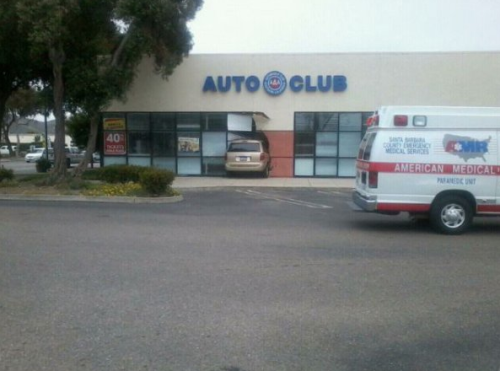Car Drives Into Auto Club Hey guys, I know I'm late, but I made it!