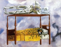 tomatita:  The Dream by Frida Kahlo    death waying on me