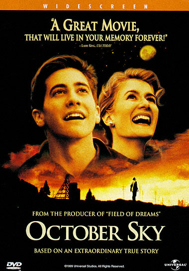 October Sky (1999) is a an inspirational drama set in the era of the cold war where Homer Hickham (Gyllenhaal) is a young man who gained inspiration from the Sputnik launch. What makes this a great film is also the fact that this is based on a true story, a story about a young man who had a dream, and fought for it, however much is father is against it, (childish he says).  This is also one of my favourite performances by Jake Gyllenhaal, and was a mark for a young talent emerging into Hollywood, and is now renowned as one of the worlds best. An inspirational film that will no doubt fascinate you into the complex world of space exploration and physics.