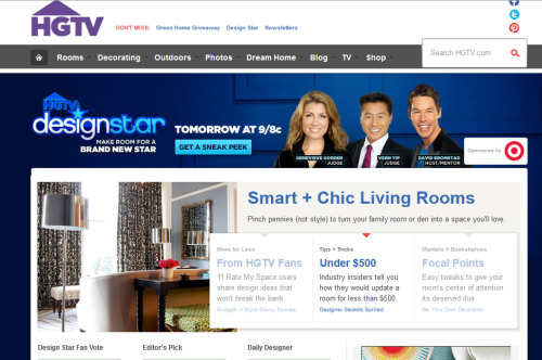 06/18/2012:  Niche Interiors on HGTV's homepage (!!!) I'd be lying if I said this wasn't cool.  Woot* Woot* Go Niche <3