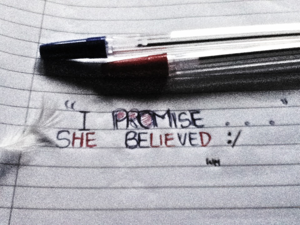 I promised he said and I believe him, but he lied …