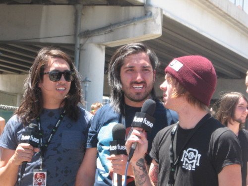 floatonawaveofattention:  Fuse was interviewing Of Mice & Men