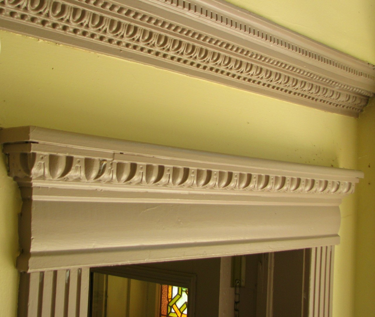 "Decorative wood mouldings like these, still found in the 40 Albert Street building today, were considered ""old fashioned"" in the concrete, glass and plastic worshipping 1960's."