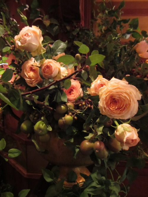 Max Gill's garden roses and apple branches…