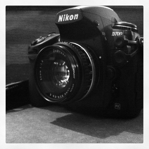 Today's kit -D700+ 50mm 1.8 E  (Taken with Instagram)