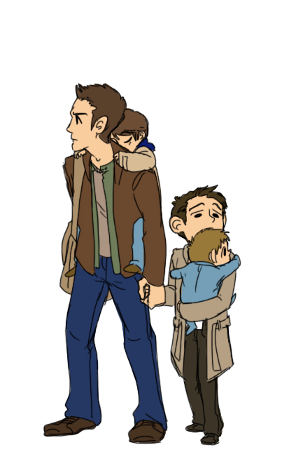 Supernatural Kids for rockinthecassbutt ;u; I hope you like it~