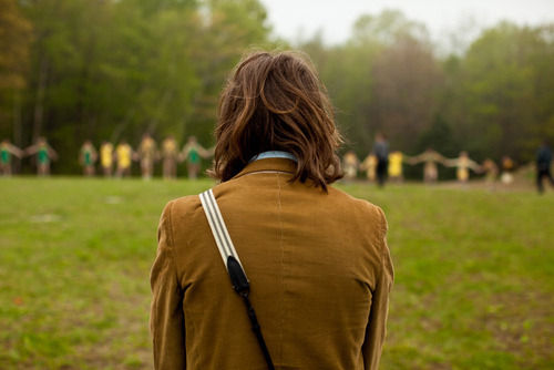 cinemastatic:  Wes Anderson on the set of Moonrise Kingdom