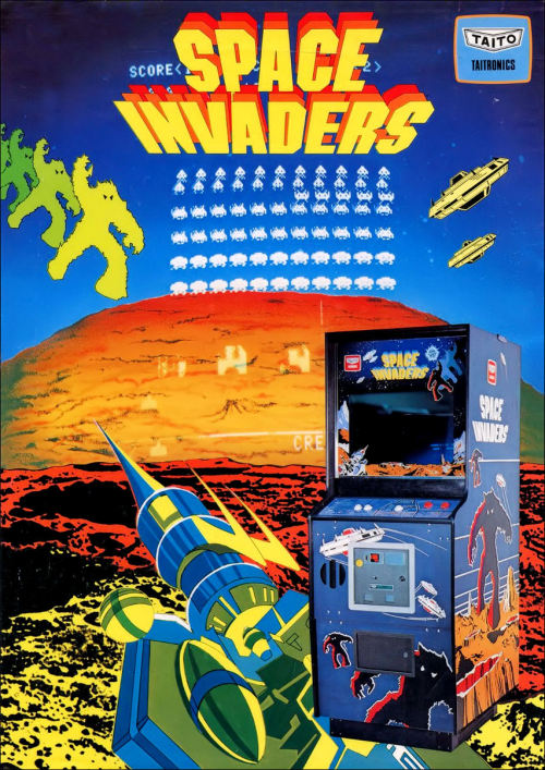 Space Invaders, an arcade video game designed by Tomohiro Nishikado is released in 1978. Space Invaders was originally manufactured and sold by Taito in Japana nd was later licensed for production in the United States by the Midway division of Bally. Space Invaders is one of the earliest shooting games and the aim is to defeat waves of aliens with a laser cannon to earn as many points as possible. In designing the game, Nishikado drew inspiration from popular media: Breakout, The War of the Worlds, and Star Wars. To complete it, he had to design custom hardware and development tools. It was one of the forerunners of modern video gaming and helped expand the video game industry from a novelty to a global industry. When first released, Space Invaders was very successful. Following its release, the game caused a temporary shortage of 100-yen coins in Japan and grossed US$2 billion worldwide by 1982. The game has been the inspiration for other video games, re-released on numerous platforms, and led to several sequels.