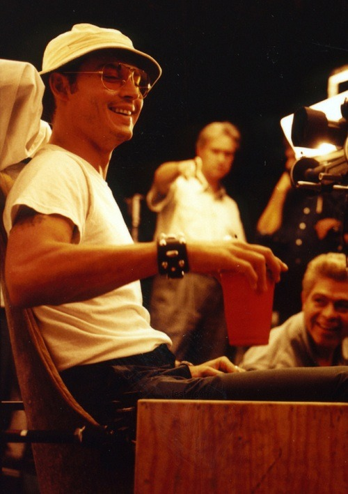 lestercorp:  Johnny Depp on the set of Fear and Loathing in Las Vegas