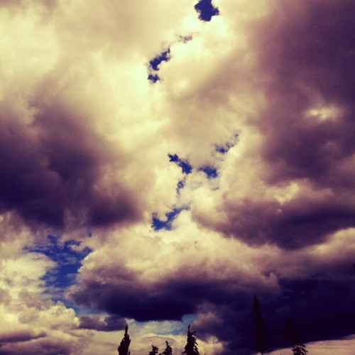 I #love #Oregon #weather. #sky #clouds (Taken with Instagram)