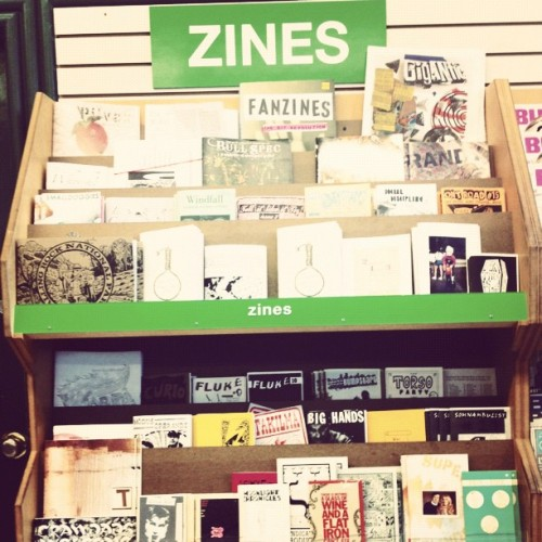 The 90s are alive in Portland. #zines (Taken with Instagram at Powell's City of Books)