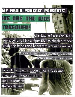 Listen live TONIGHT as Natalie from the We Are The Kids blog takes over the EIY Podcast studios! 6pm EST / 7pm MST / 8pm CST / 9pm PST earnityourself.com/podcast