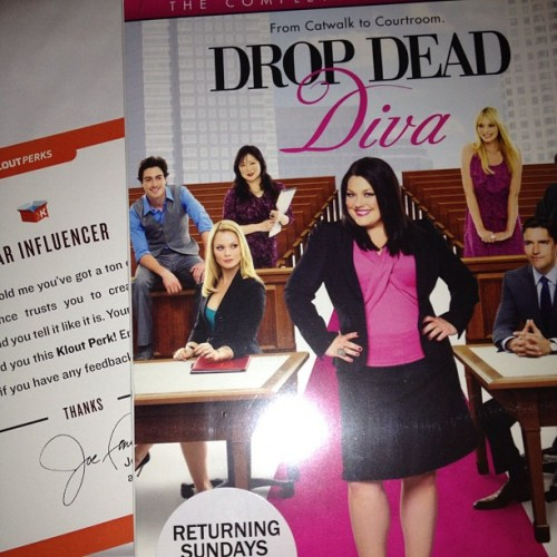 #Lifetime Drop Dead Diva #Klout Perk: Season 3 DVD, Thank You, Lifetime! Love the show, one of my favorites. #lifetime #dropdeaddiva #klout #kloutperks (Taken with Instagram)
