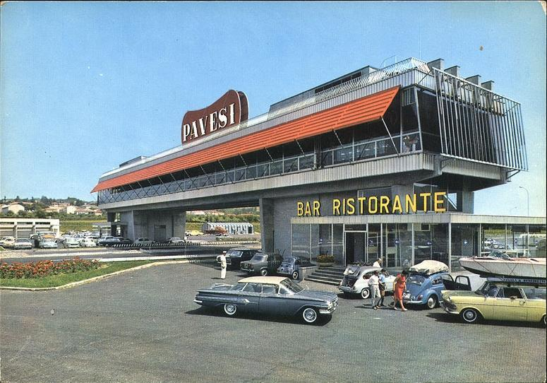 A motorway restaurant near Milan