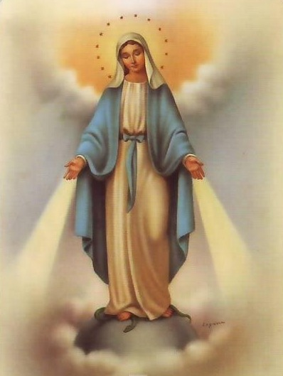 "allaboutmary:  O Mary, conceived without sin, pray for us who have recourse to thee.  I think Carmen Reyes has an image like this on her living room wall in ""Numbers,"" but it's not there in ""Trisha Tanaka is Dead."""